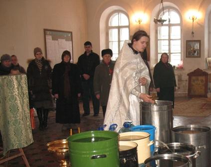 Освящение святой воды в Покровском храме