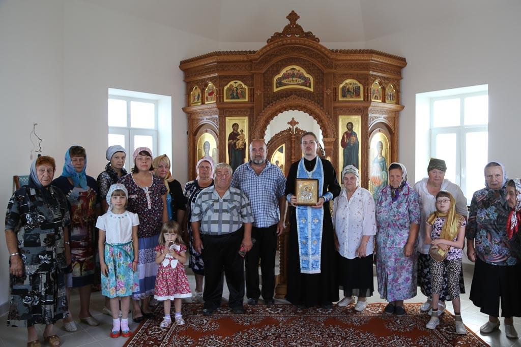 Престольный праздник в строящемся храме-часовне в честь Смоленской иконы Божией Матери деревни Молитвино 10 августа 2016 года