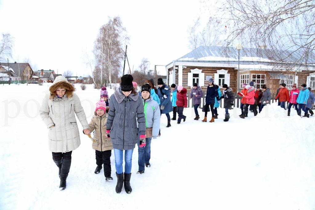 Коломенский детский дом-интернат «Планета детства» в Государственном музее-заповеднике С. А. Есенина и Иоанно-Богословском монастыре 13 января 2016 года